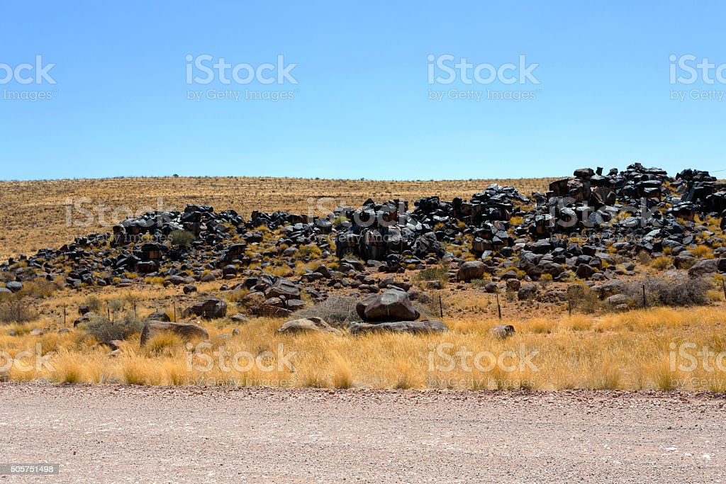 fantastic Namibia desert landscape stock photo
