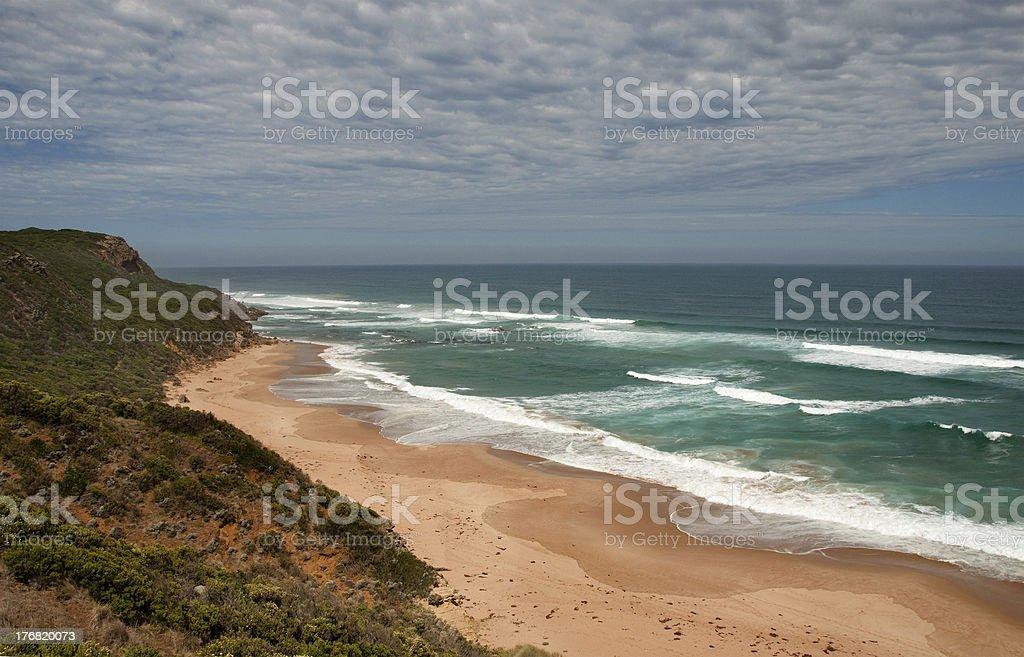 Fantastic paradise wild beach. Great Ocean Road, Australia royalty-free stock photo
