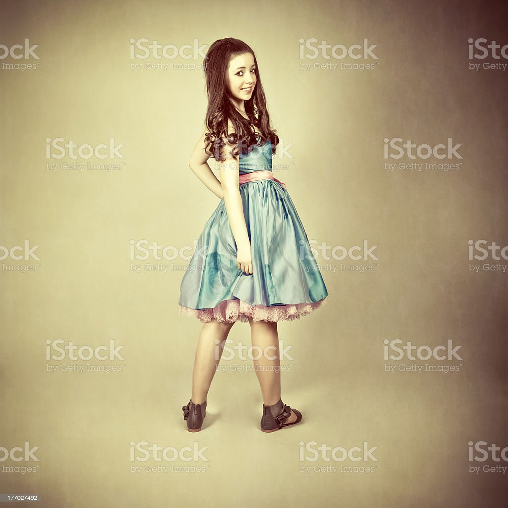fantastic portrait of a young girl royalty-free stock photo