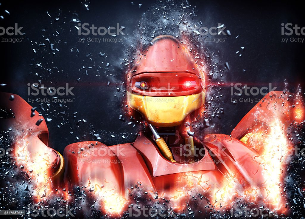Fantastic robot stock photo