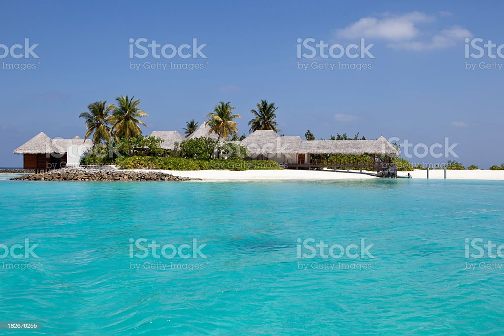 Fantastic Small Island in the Maldives royalty-free stock photo