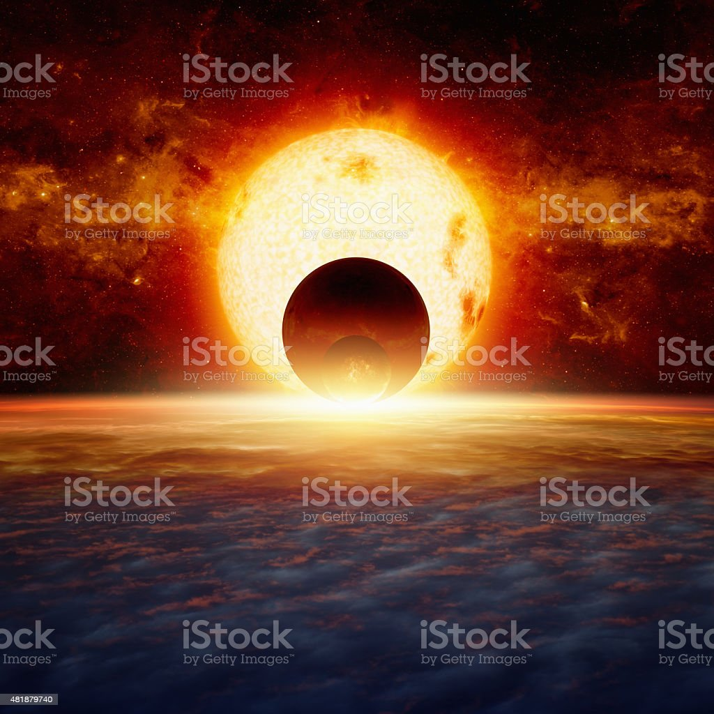 Fantastic space background stock photo