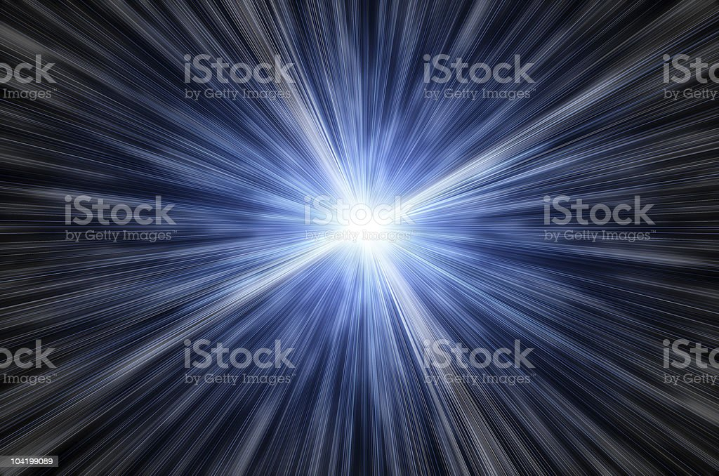 Fantastic space speed. future light royalty-free stock vector art
