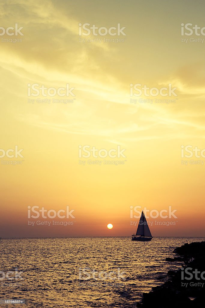 Fantastic sunset (Cafe del Mar) stock photo