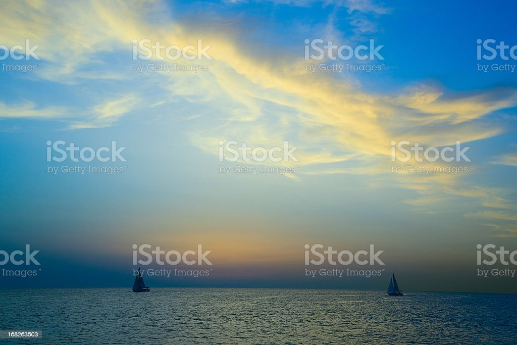 Fantastic sunset stock photo