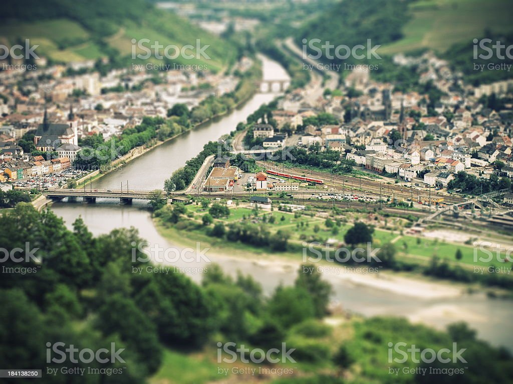 Fantastic view over the Rheingau to Bingen stock photo