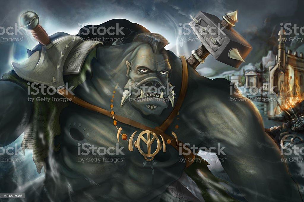 Fantastic Warior stock photo