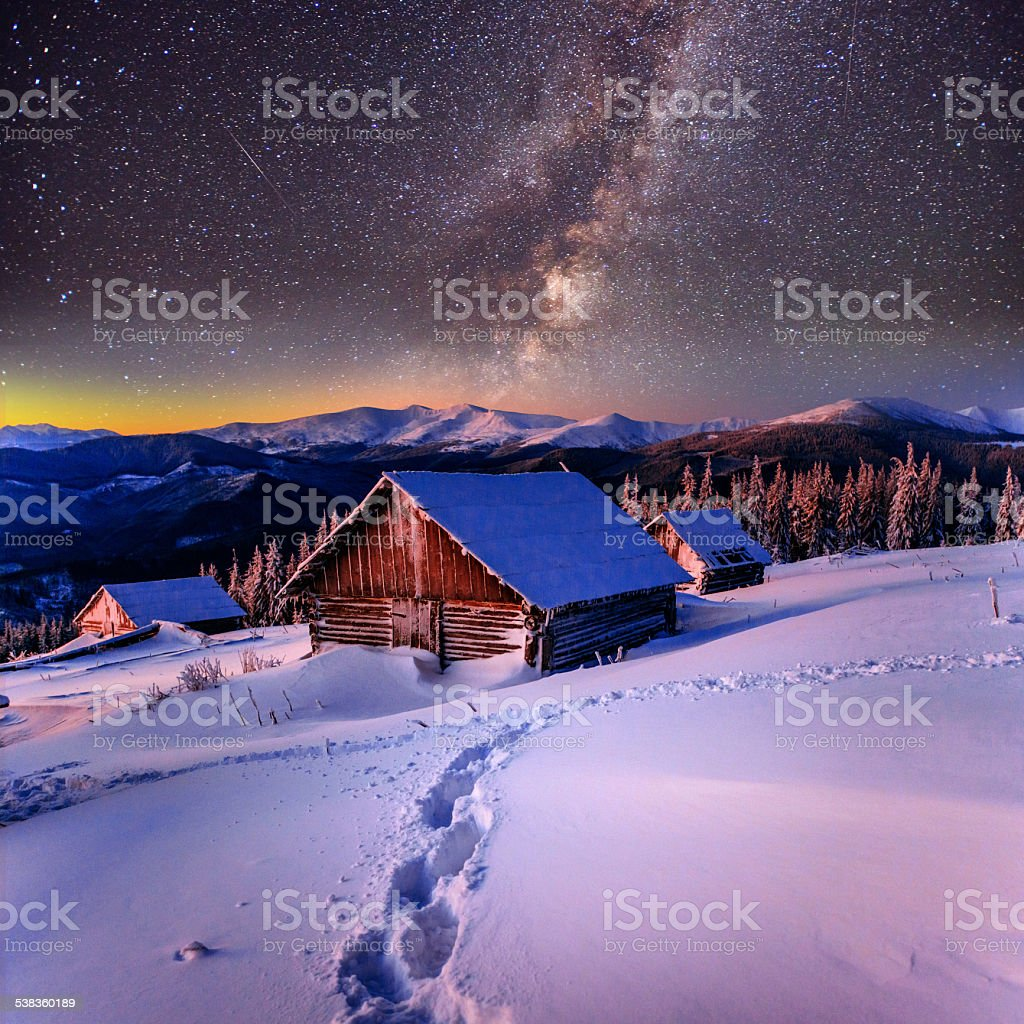 fantastic winter landscape stock photo