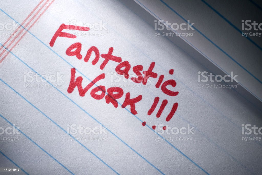 Fantastic Work royalty-free stock photo