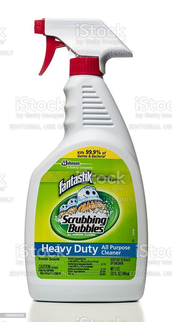 fantastik scrubbing bubbles heavy duty all purpose cleaner spray royalty-free stock photo