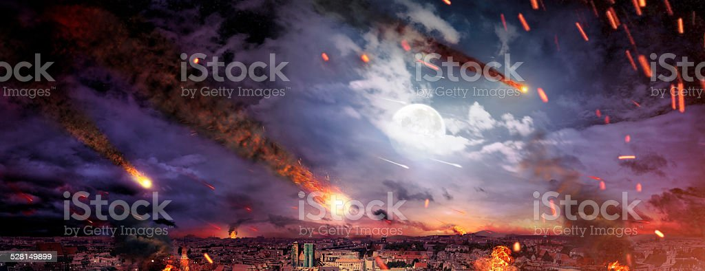 Fantasty picture of the apocalypse stock photo