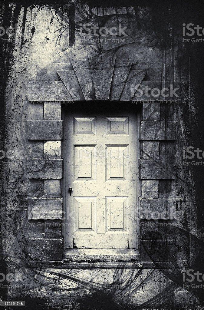 Fantasy doorway stock photo