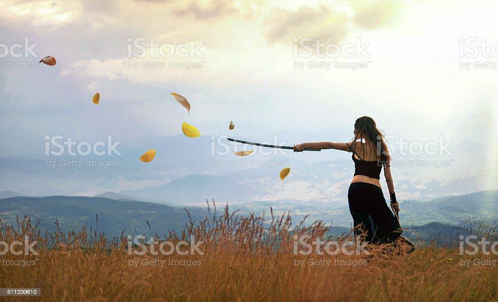 Fantasy epic scene stock photo