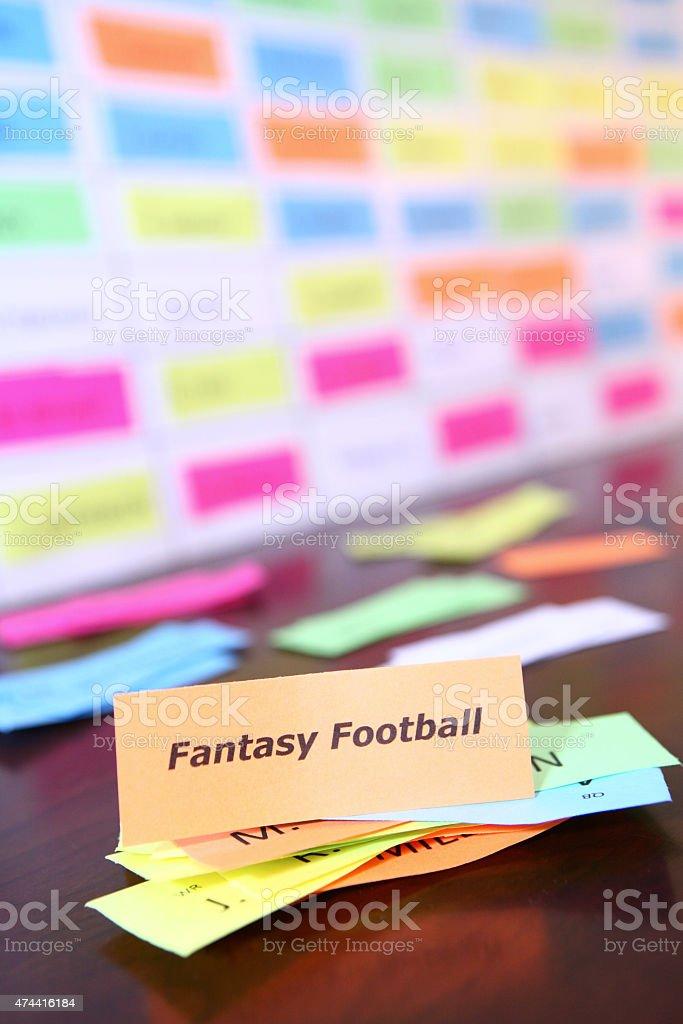 Fantasy Football Draft Board stock photo