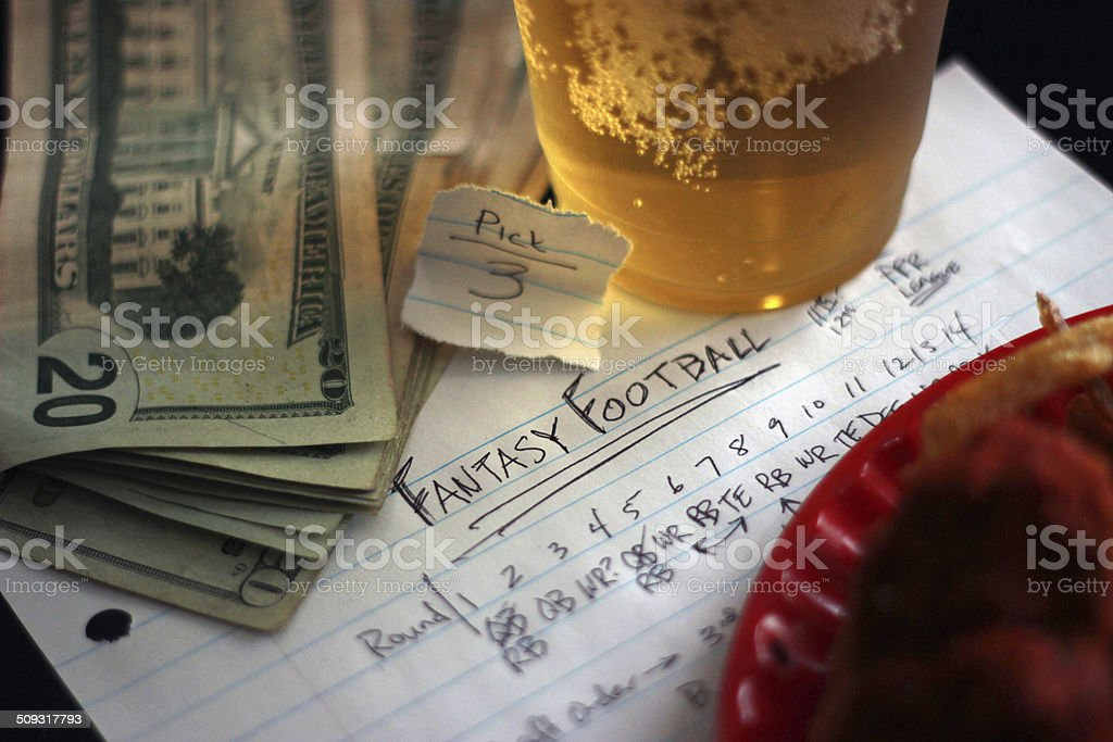 Fantasy Football Draft Concept stock photo
