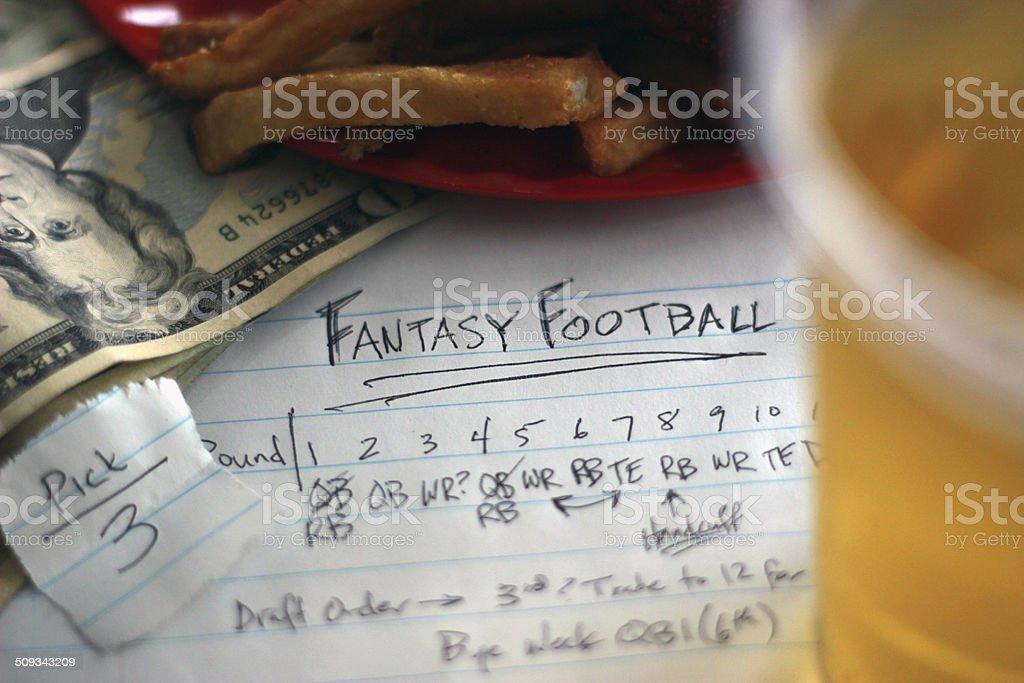 Fantasy Football Draft Elements stock photo