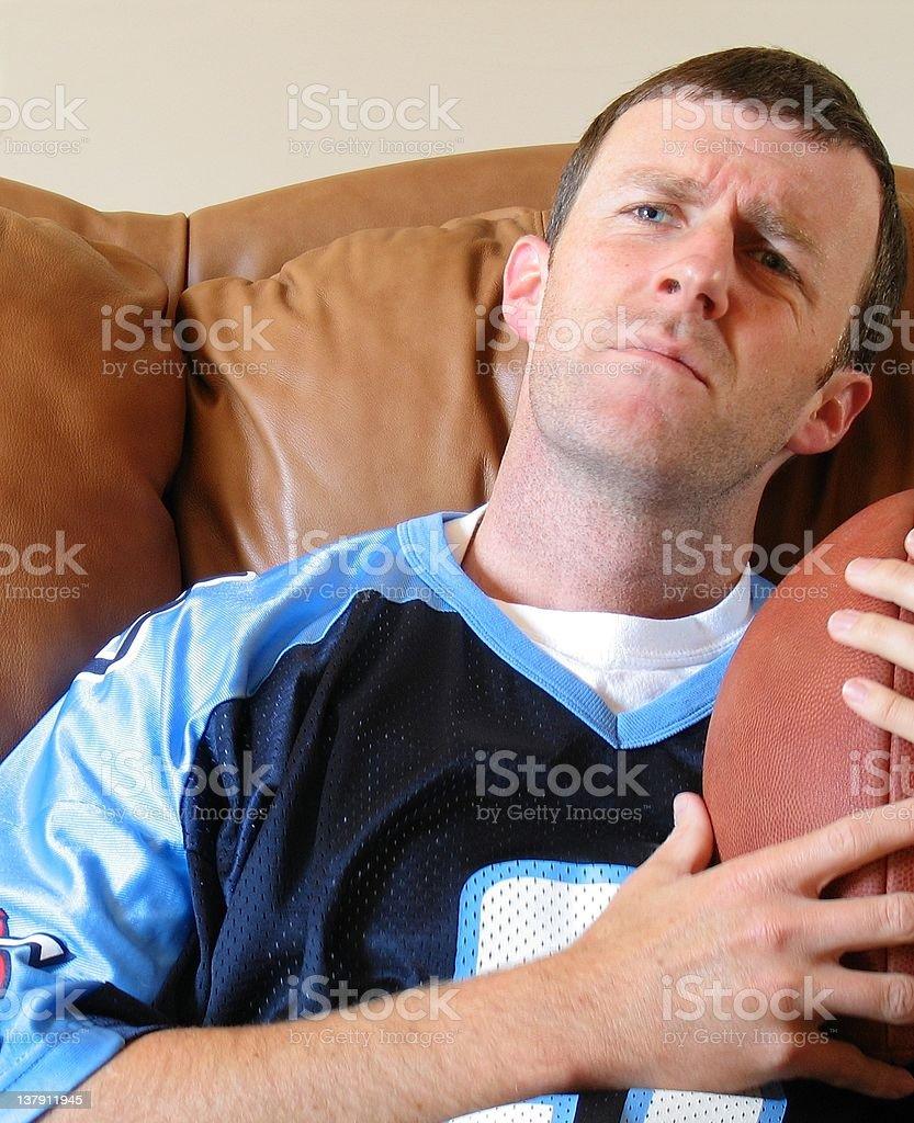 Fantasy Football Fan Player stock photo