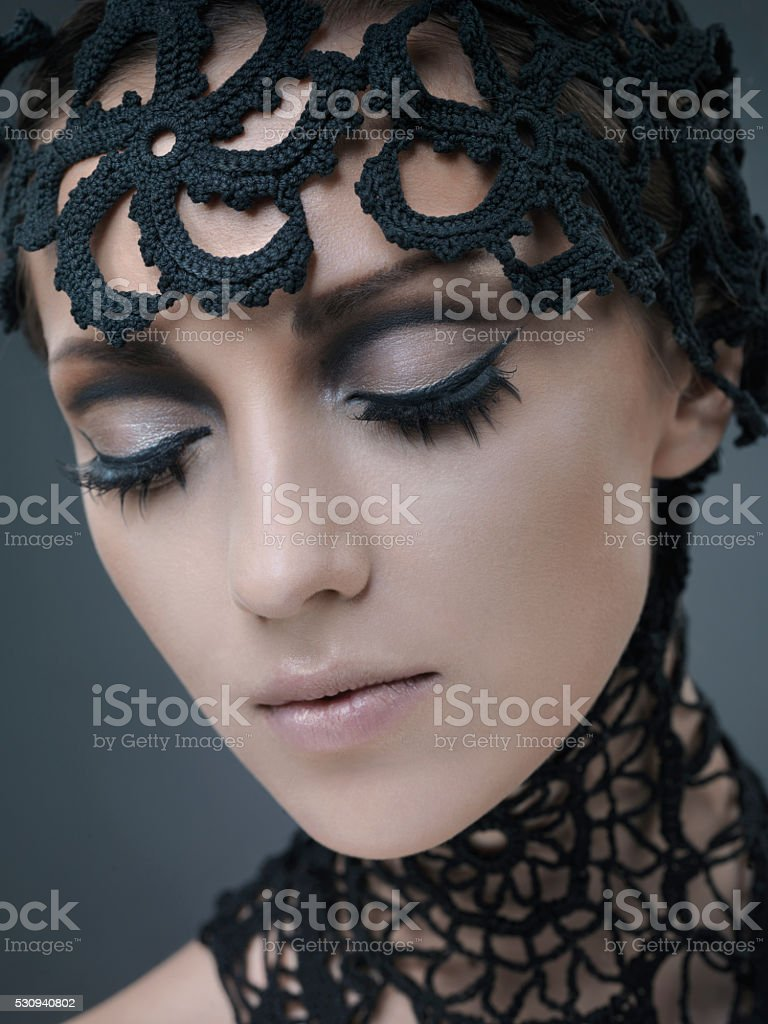 Fantasy MakeUp girl stock photo