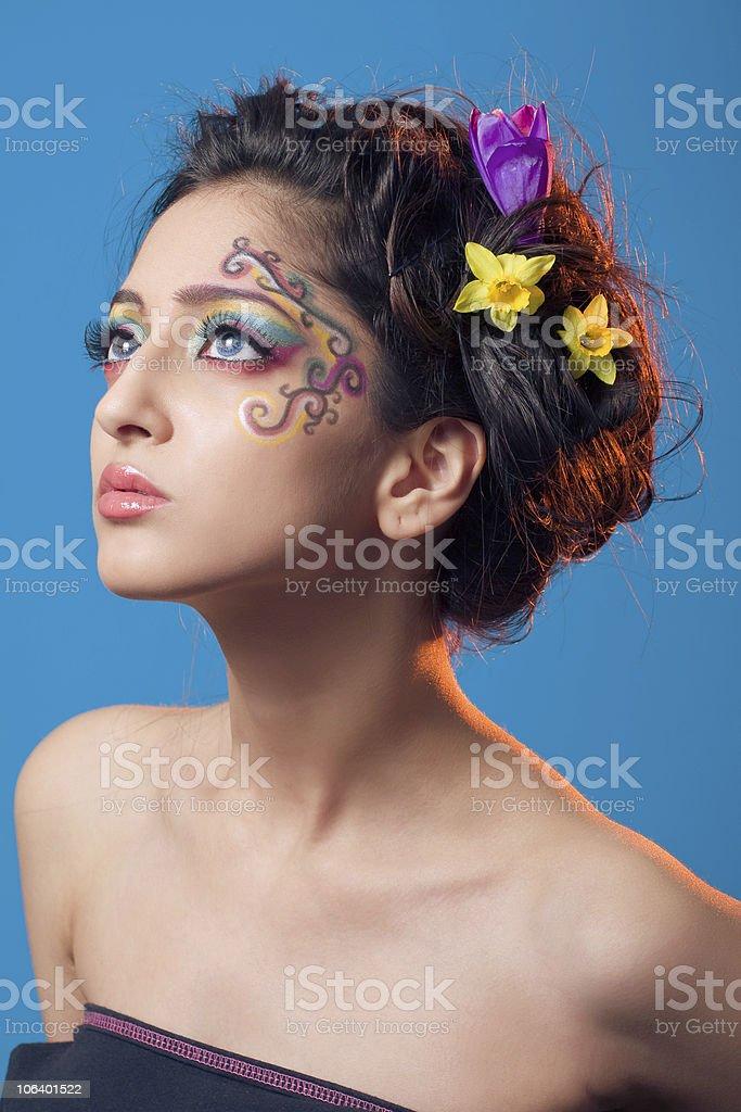 Fantasy makeup royalty-free stock photo