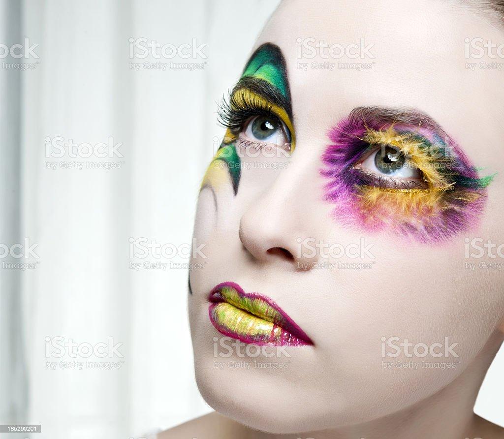 fantasy make-up royalty-free stock photo