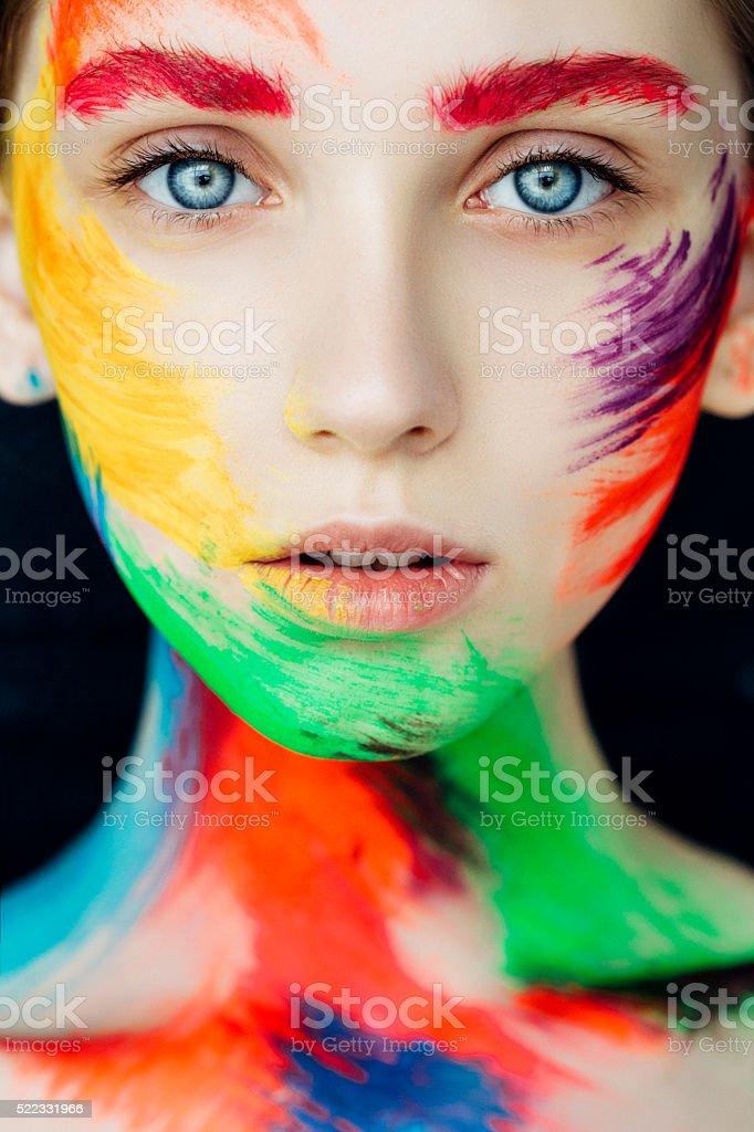 Fantasy make-up stock photo