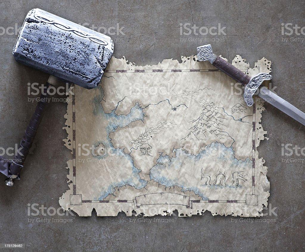 Fantasy Map royalty-free stock photo