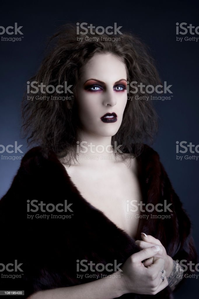 Fantasy Photo of Young Woman in Gothic Makeup stock photo