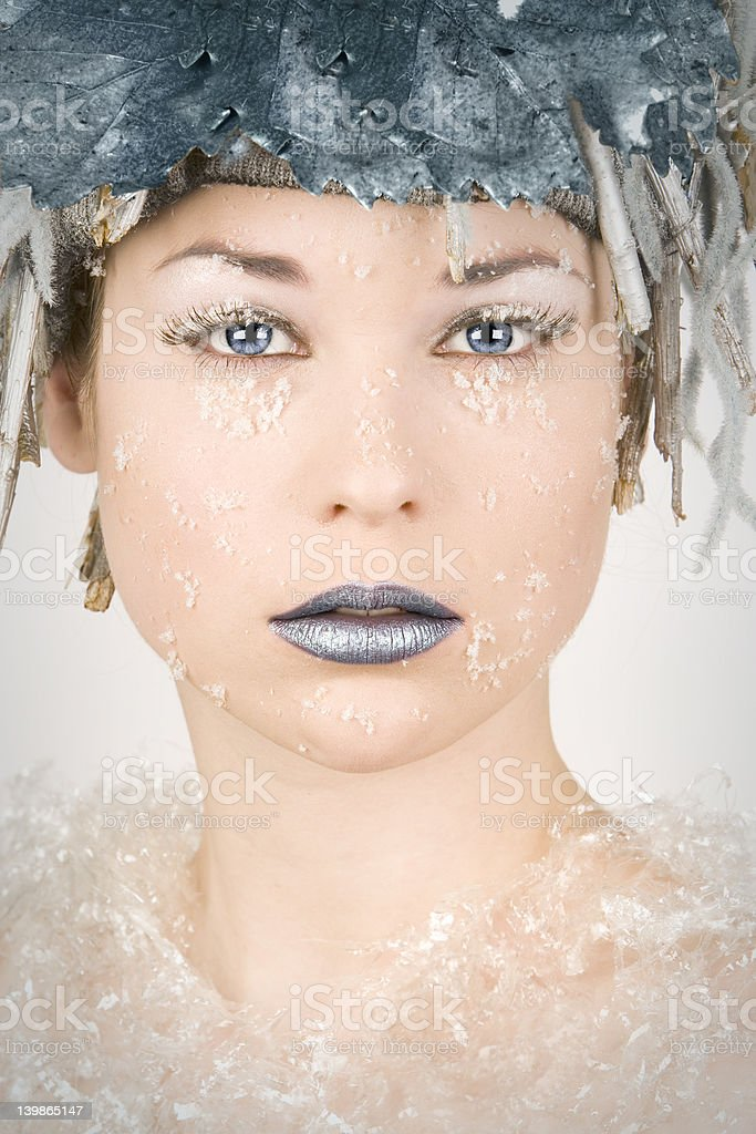 Fantasy portrait of a young woman stock photo
