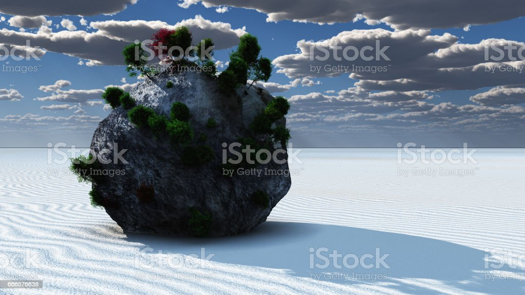 Fantasy Rock Island stock photo