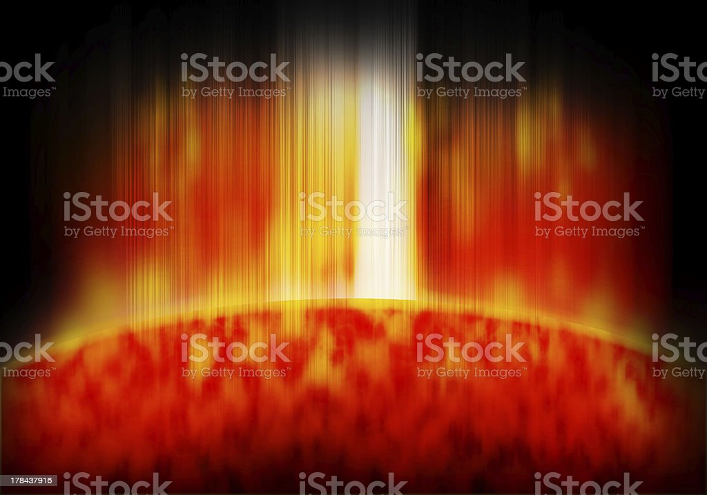 fantasy sun power abstract background royalty-free stock photo