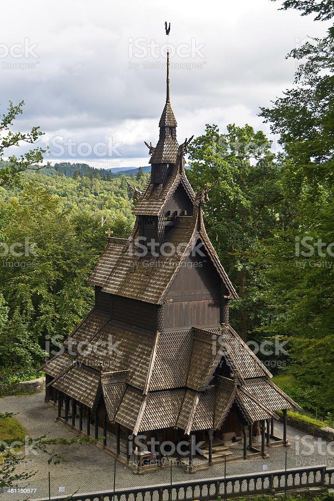 Fantoft stave church II royalty-free stock photo