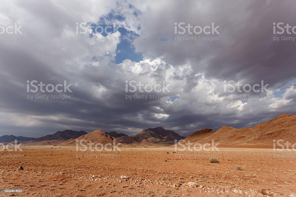 fantrastic Namibia desert landscape stock photo