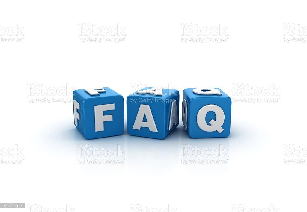 Faq Buzzword Cubes - 3D Rendering stock photo