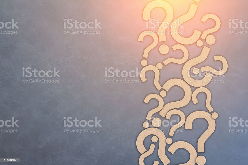 faq concept with light flare effect stock photo