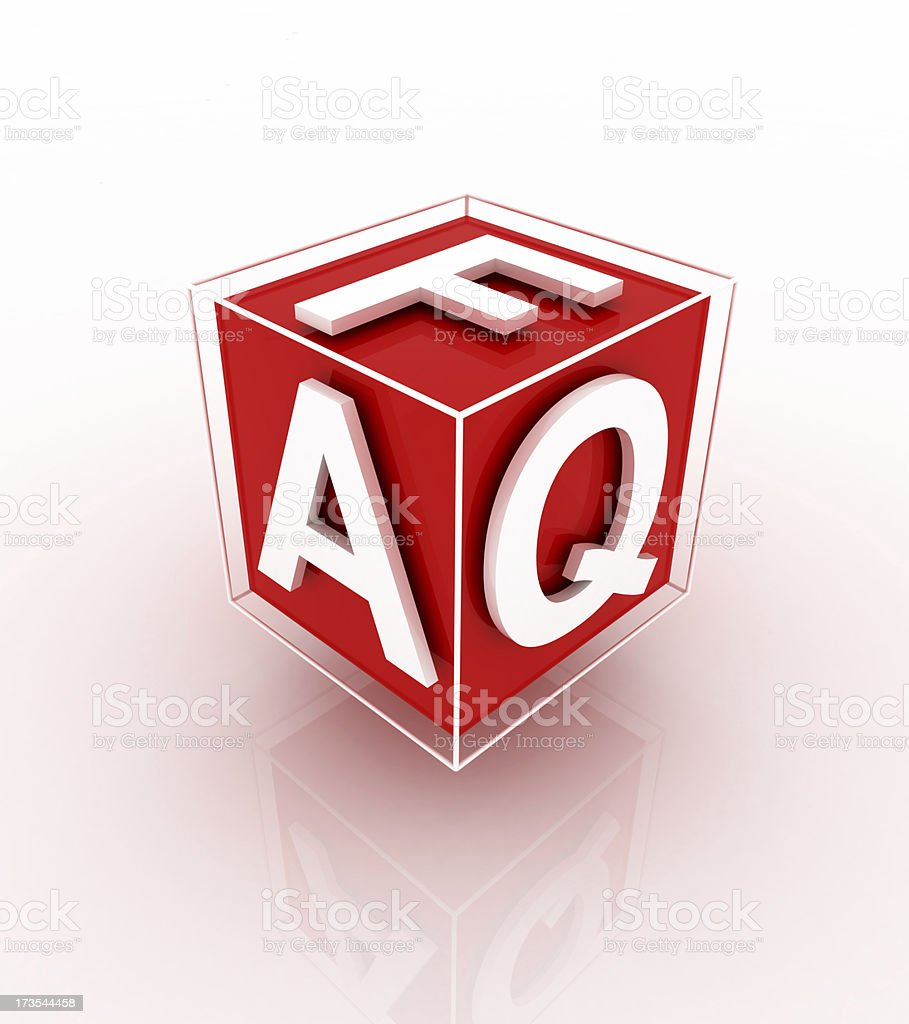 faq cube royalty-free stock photo