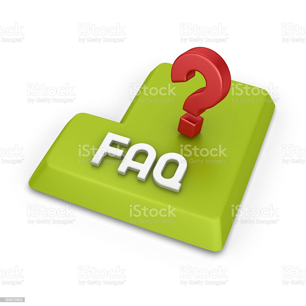 faq royalty-free stock photo