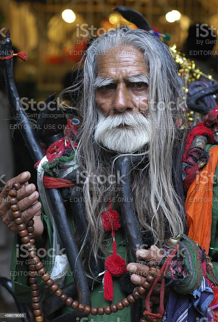 Faqir of Lal Shahbaz Qalandar (R.A) stock photo
