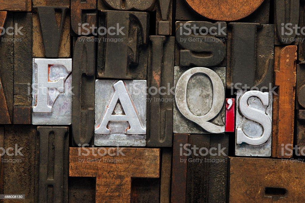 FAQs abbr stock photo