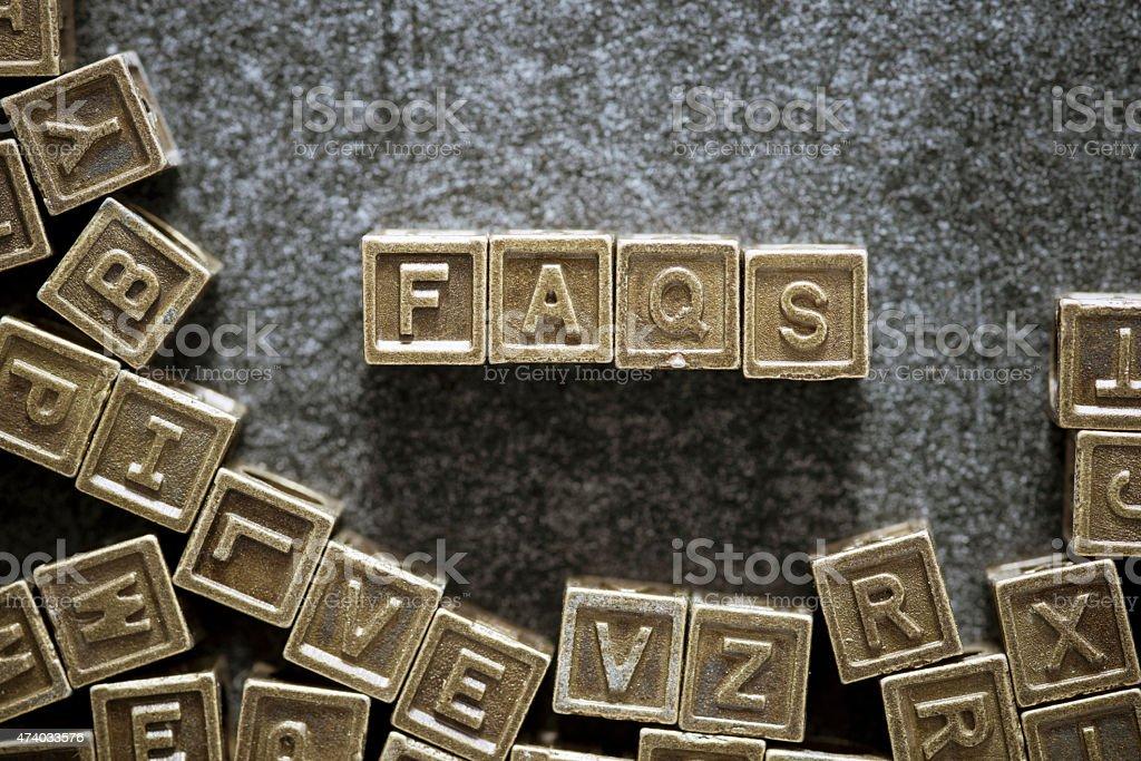 FAQs stock photo