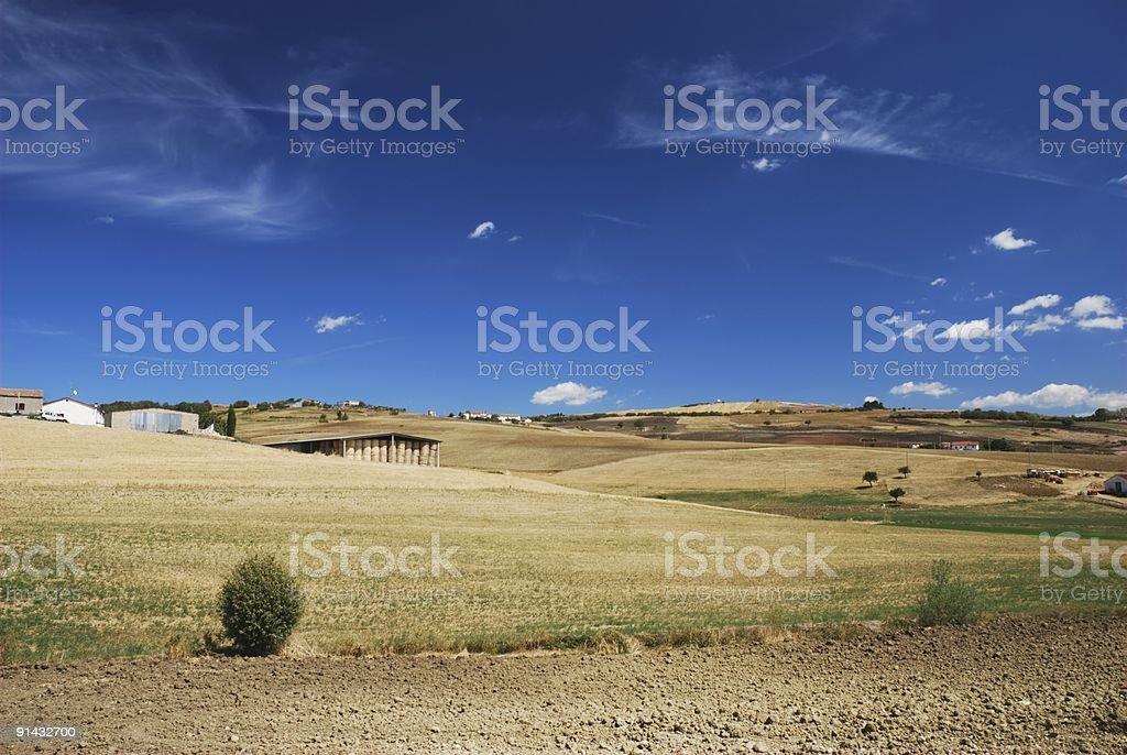 Far away farm royalty-free stock photo