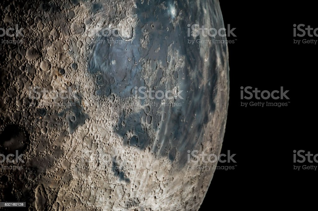 Far away from us is this amazing planet stock photo