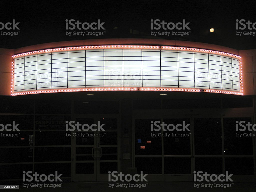 A far away picture of a building banner stock photo
