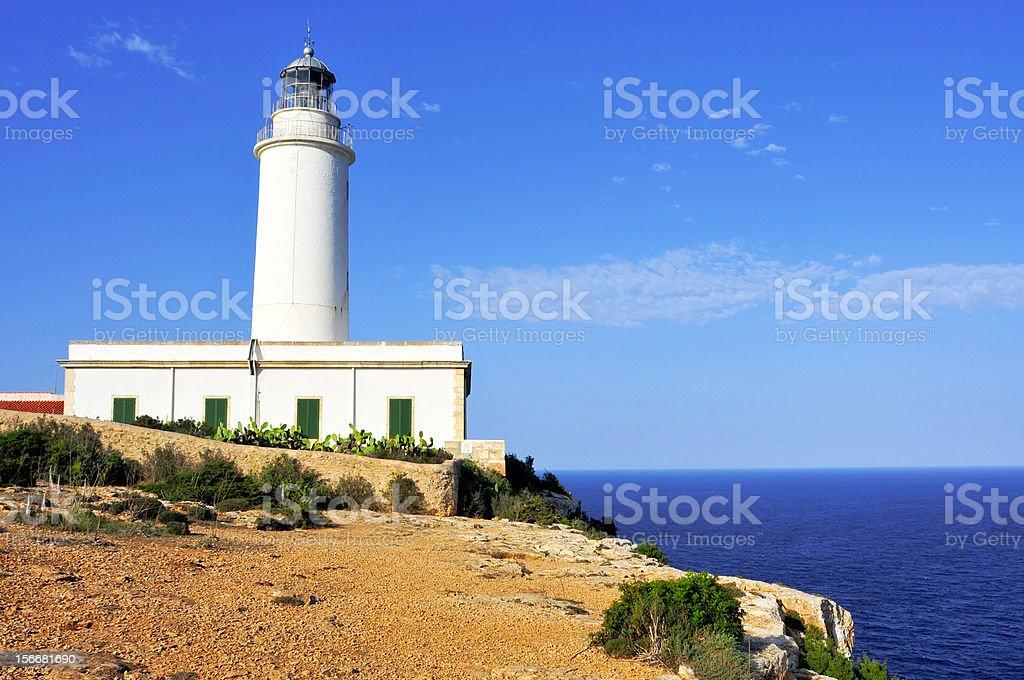 Far de la Mola in Formentera, Balearic Islands, Spain royalty-free stock photo