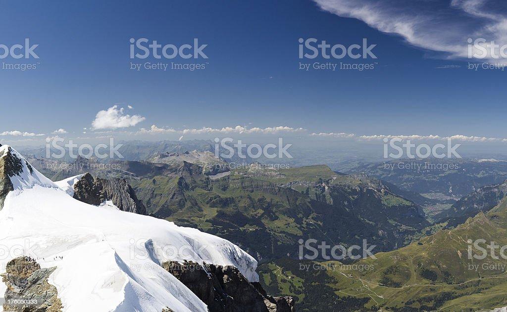 XXXL: Far Distance View from Jungfraujoch royalty-free stock photo