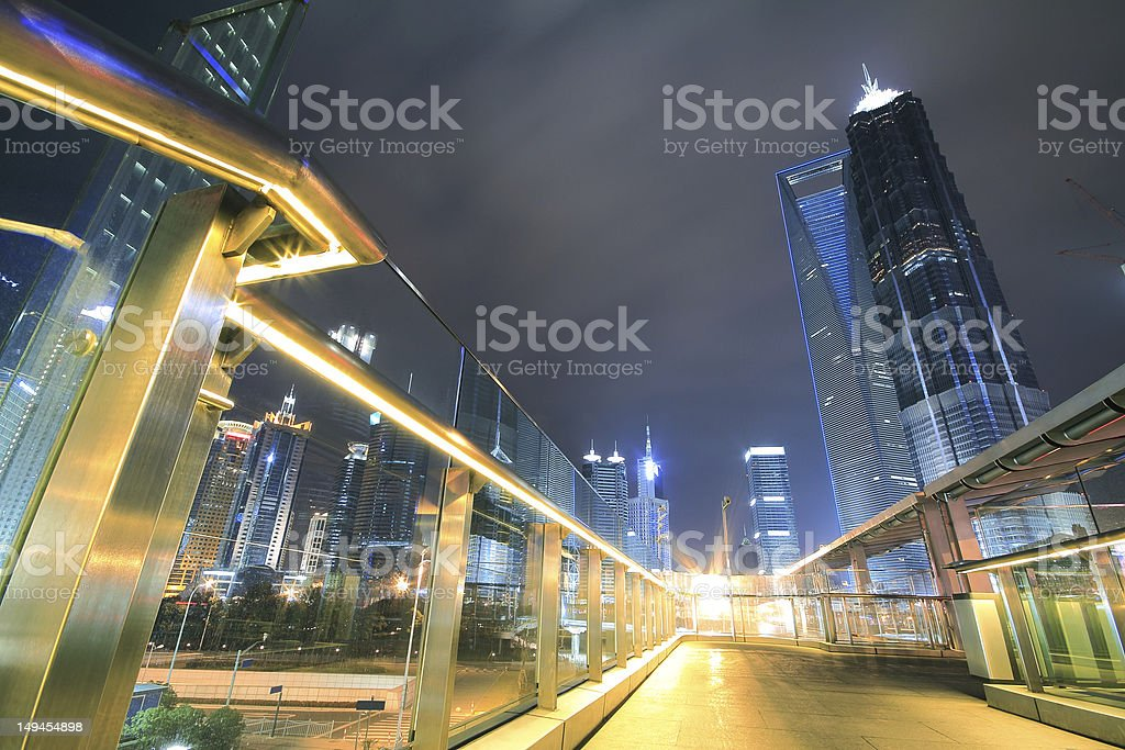 Far East city of Shanghai Lujiazui Night scenery royalty-free stock photo