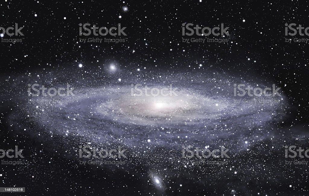 Far galaxy royalty-free stock photo