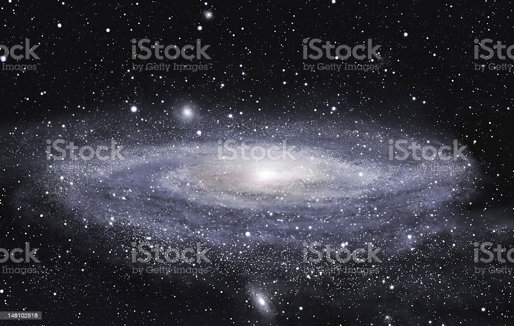 Far galaxy stock photo