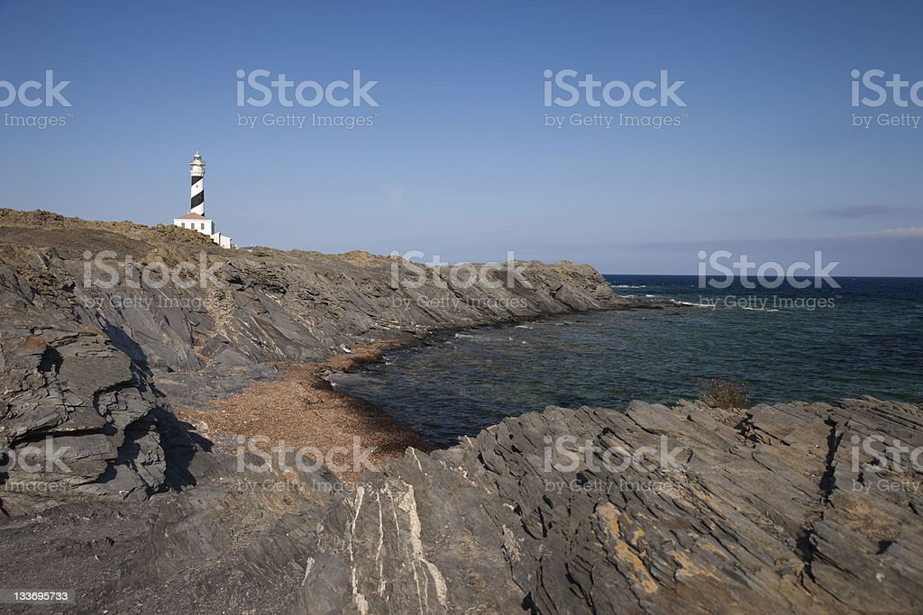 Far Lighthouse royalty-free stock photo