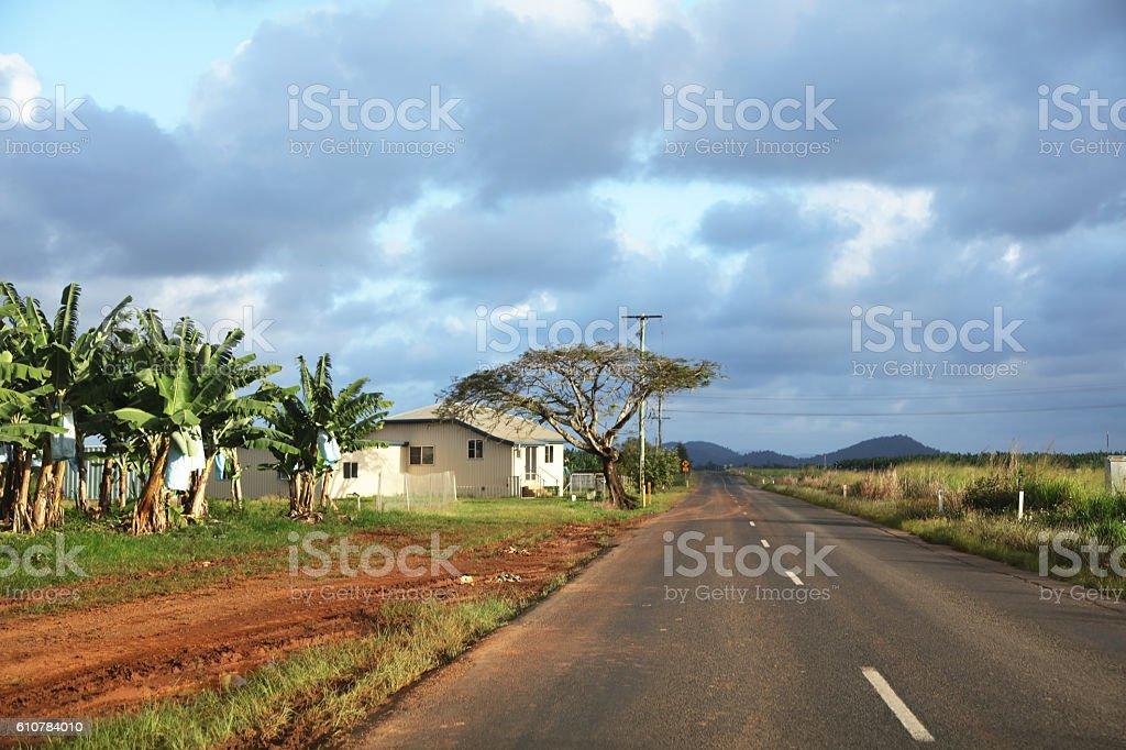 Far North Queensland road stock photo