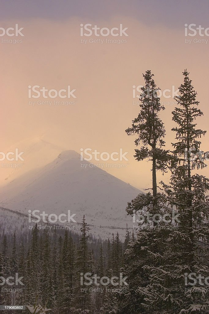 Far northern peak royalty-free stock photo